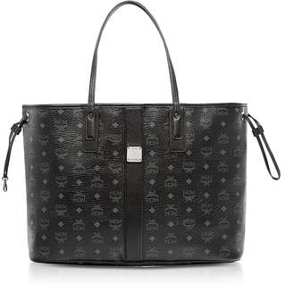 MCM Black Visetos Large Reversible Liz Shopper