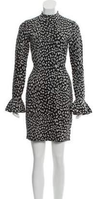 MICHAEL Michael Kors Metallic Cheetah Print Dress Black Metallic Cheetah Print Dress