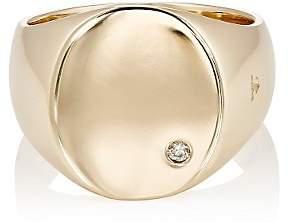 Tom Wood Women's Oval Top Diamond Ring-Gold