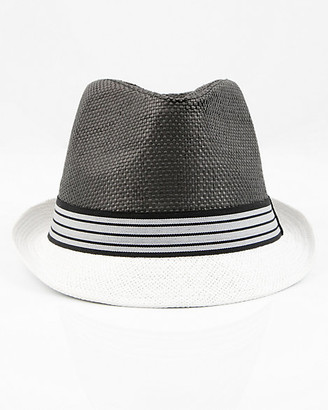 Le Château Colour-Block Straw Fedora Hat