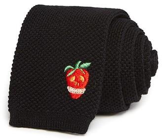 Paul Smith Strawberry Skull Knit Skinny Tie $150 thestylecure.com