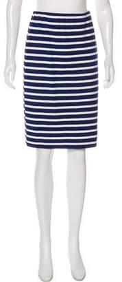 L'Agence Striped Knee-Length Skirt
