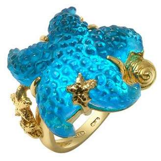 Tagliamonte Marina Collection - Blue Starfish 18K Gold Ring