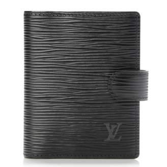 Louis Vuitton Agenda Cover Epi Mini Noir Black