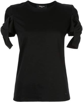 Paule Ka bow-detail fitted T-shirt
