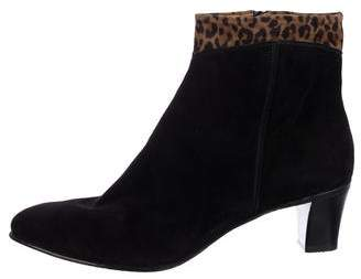 Gravati Suede Round-Toe Ankle Boots