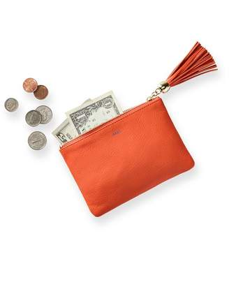 Mark And Graham Leather Zip Tassel Pouch