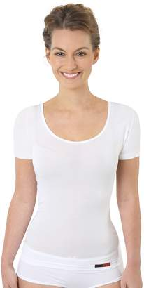 20c2977cd ALBERT KREUZ women's undershirt short sleeves deep U-neck MicroModal M
