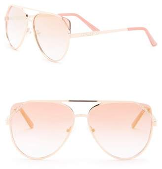 GUESS 58mm Aviator Sunglasses