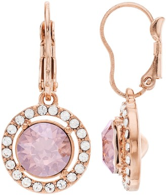 Brilliance+ Brilliance Oval Halo Drop Earrings Swarovski Crystal