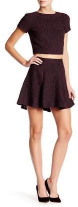 alice + olivia Sibel Hi-Lo Fit & Flare Skirt $288 thestylecure.com