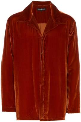 Edward Crutchley notched lapel velvet shirt