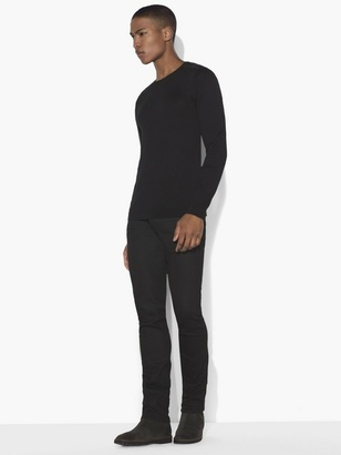 Crewneck Sweater with Shoulder Piping $168 thestylecure.com