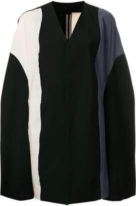Rick Owens colour block cape