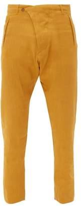 Arjé Arje - The Teo Linen Blend Trousers - Mens - Orange Gold