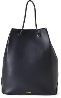 Jil Sander Blue Large Leather Shopper
