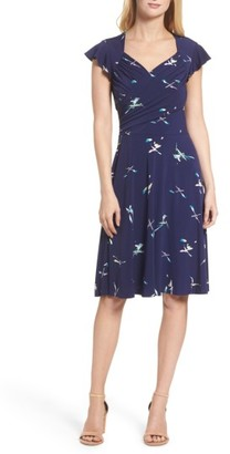 Women's Leota Print Fit & Flare Dress $148 thestylecure.com