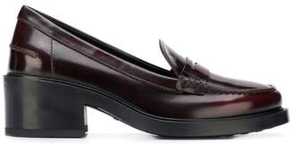 Tod's mid-heel penny loafers
