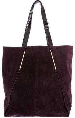 Lanvin Leather-Trimmed Suede Shopper $400 thestylecure.com