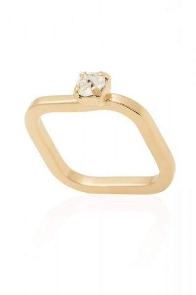 Styleserver DE Sabrina Dehoff Ring Crystal Rock vergoldet 55-56