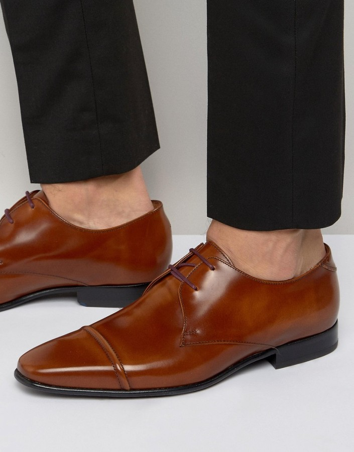 Paul SmithPaul Smith Robin Hi Shine Toe Cap Derby Shoes