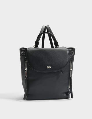 MICHAEL Michael Kors Evie Medium Backpack in Black Small Pebble Leather