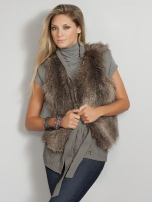 New York & Co. City Style Faux Fur Vest