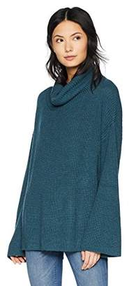 Cable Stitch Women's Funnel Neck Oversized Sweater
