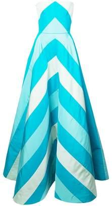 Carolina Herrera striped strapless gown