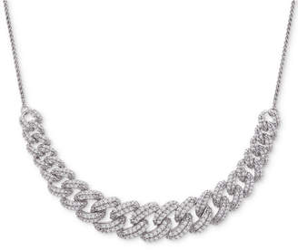 """Wrapped in Love Diamond Link Detail 18"""" Pendant Necklace (1 ct. t.w.) in Sterling Silver"""