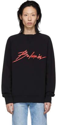 Balmain Black Signature Sweatshirt