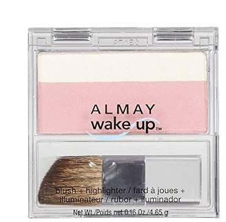 Almay Wake Up Blush and Highlighter, Pink Rose, 0.16 Ounce by