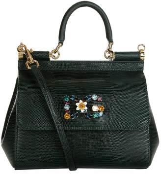 1b5dfcfb4c22 Dolce   Gabbana Small Leather Iguana Print Sicily Bag