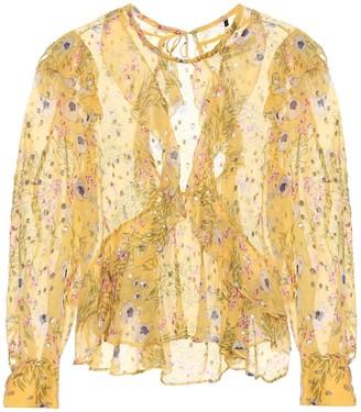 Isabel Marant Muster floral silk-blend blouse