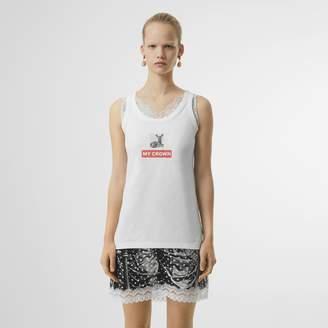Burberry Montage Print Cotton Vest