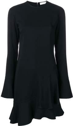 Victoria Beckham long sleeve frill mini dress