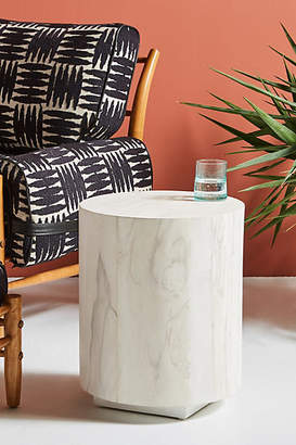 Anthropologie Swirled Drum Side Table