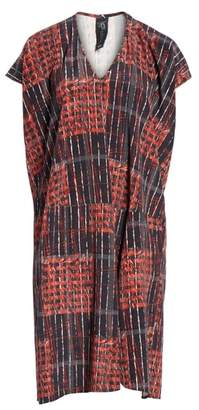 Zero Maria Cornejo Plaid Stretch Silk Dress