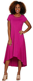 Halston H by Regular Maxi Dress with Hi-Low Hemand Lace Detail
