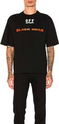 Moncler x Off White Black Swan Tee $405 thestylecure.com
