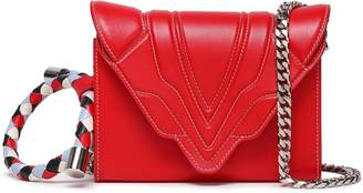 Elena Ghisellini Felina Braid-trimmed Quilted Leather Shoulder Bag