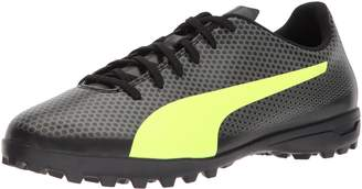 Puma Men's Spirit Turf Trainer Soccer Shoe, Black-Fizzy Yellow-Castor Gray