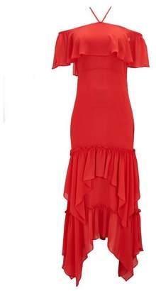 Wallis Red Ruffle Tiered Maxi Dress