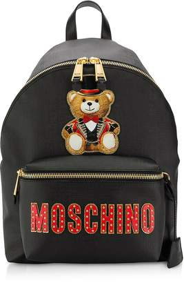 Moschino Black Teddy Bear Backpack W&Teddy Circus Patch