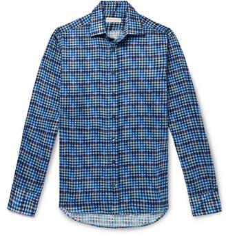 Etro Slim-Fit Checked Cotton Shirt - Blue