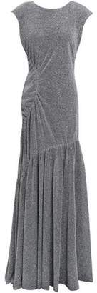 Sachin + Babi Ruched Metallic Knitted Gown