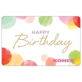 Kohl's Happy Birthday Dots Gift Card