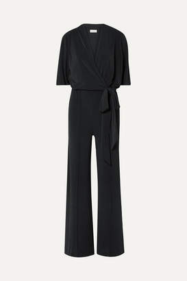 By Malene Birger Zhou Belted Wrap-effect Stretch-jersey Jumpsuit