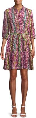 Saloni Tyra 3/4-Sleeve Shirtdress