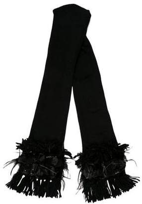 Alice + Olivia Knit Chain-Accented Scarf